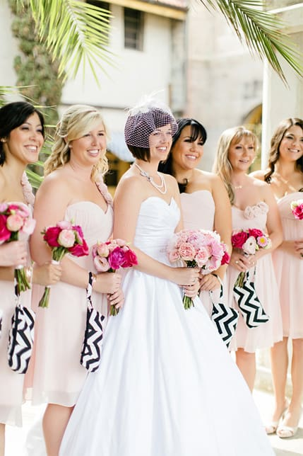 A Romantic Rooftop Wedding Filled With Black & White Chevrons & Pops ...