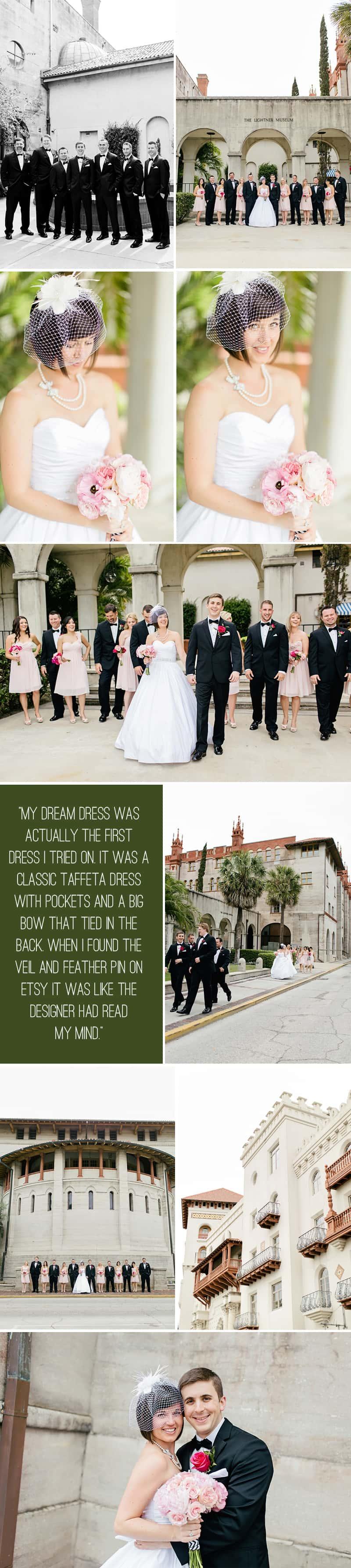 Black White Chevron Pink Wedding Florida Rooftop Wedding2