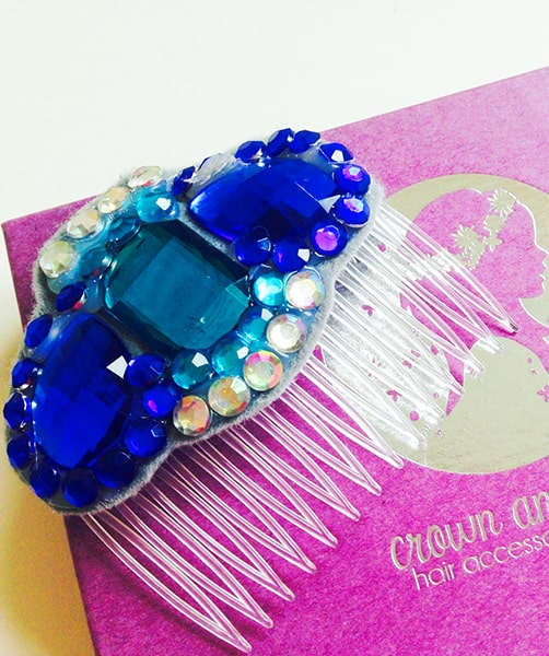 DIY Crown & Glory Gem Hair Comb