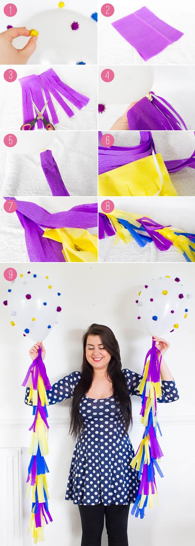 DIY Pom Pom Balloons with Tassels 2