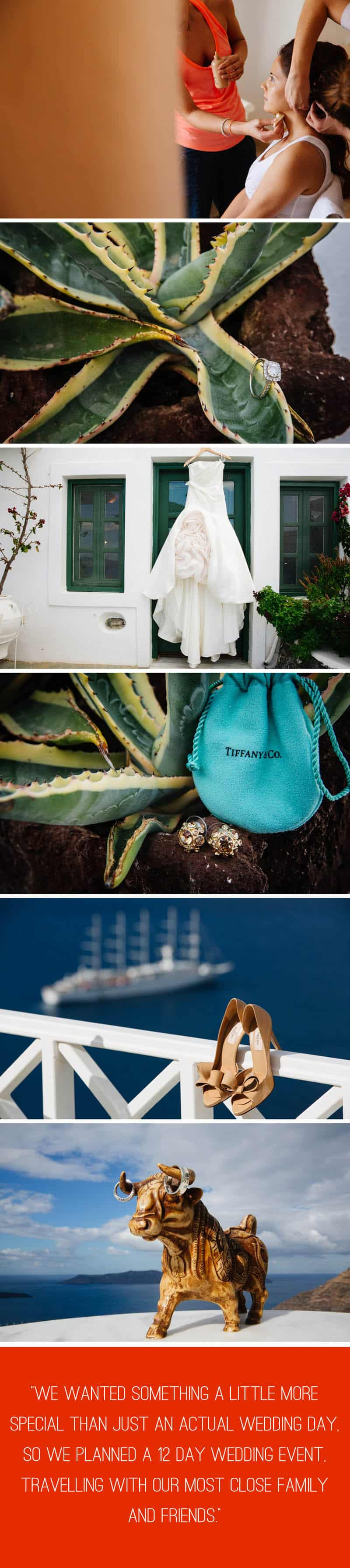 A Travel Themed Destination Wedding in Santorini