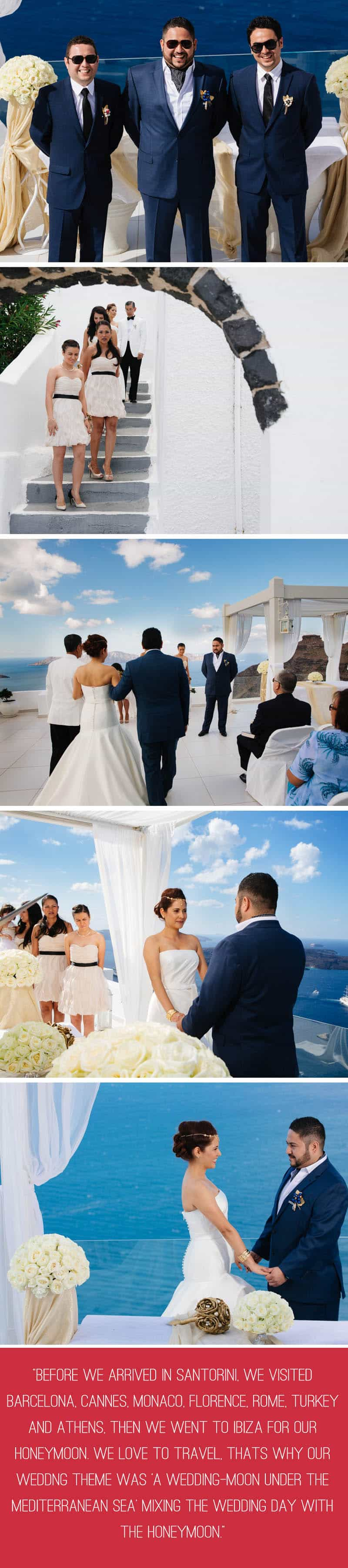 A Travel Themed Destination Wedding in Santorini 3