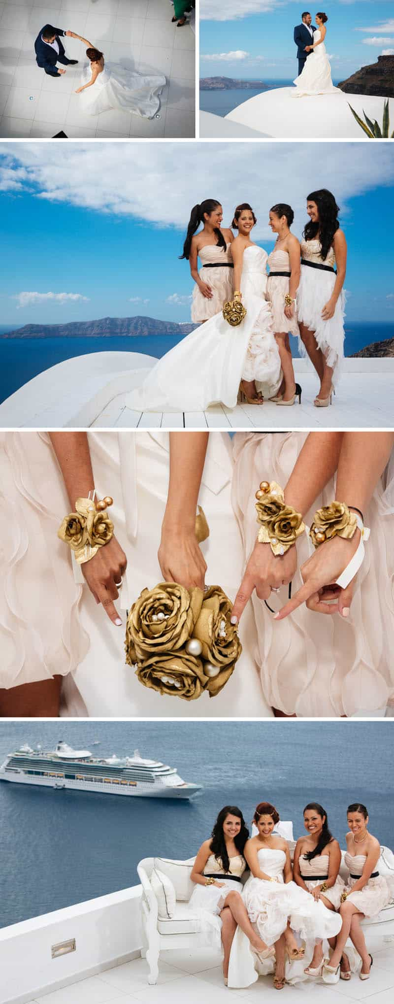 A Travel Themed Destination Wedding in Santorini 6