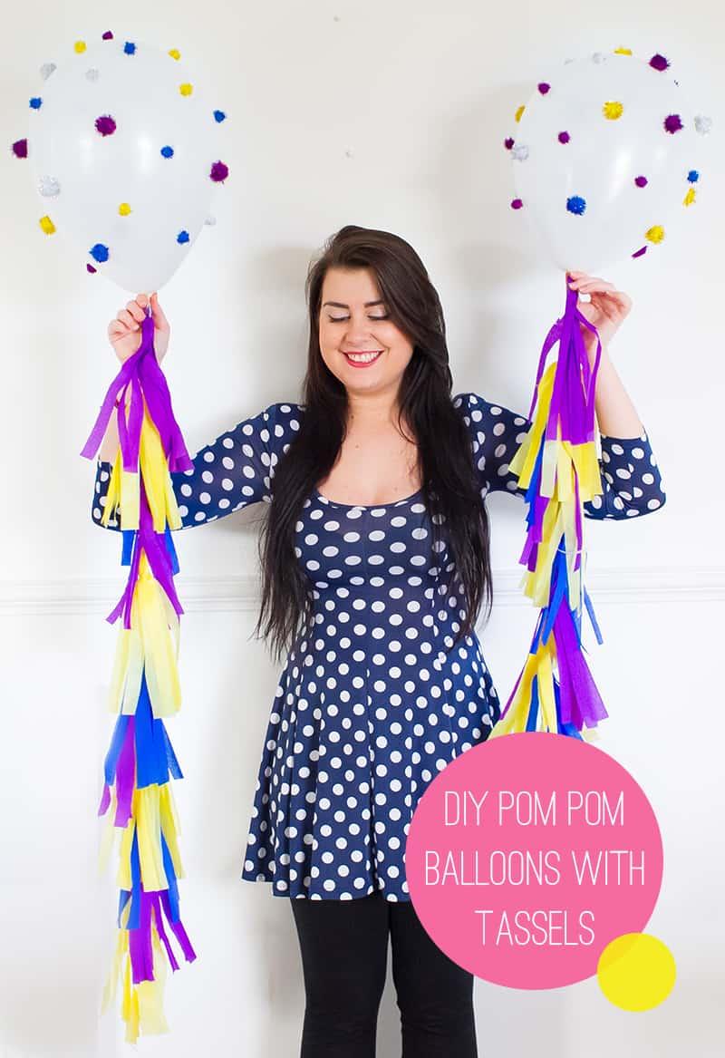 Main DIY Pom pom Tassle Balloons 2