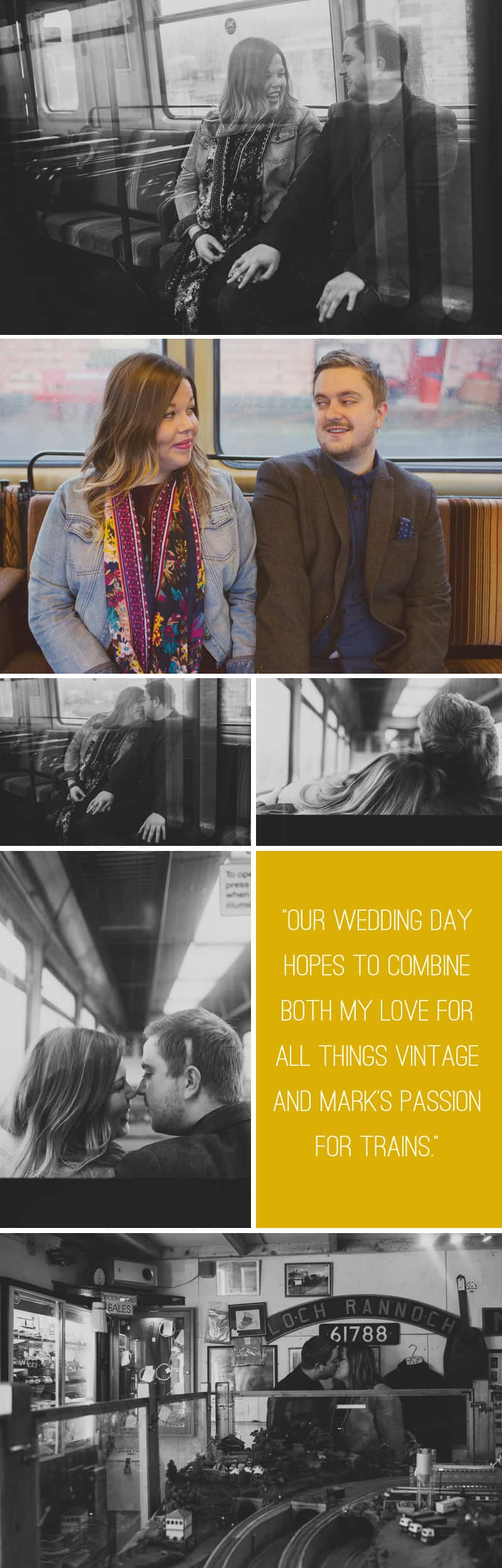 Vintage Train Engagement 2