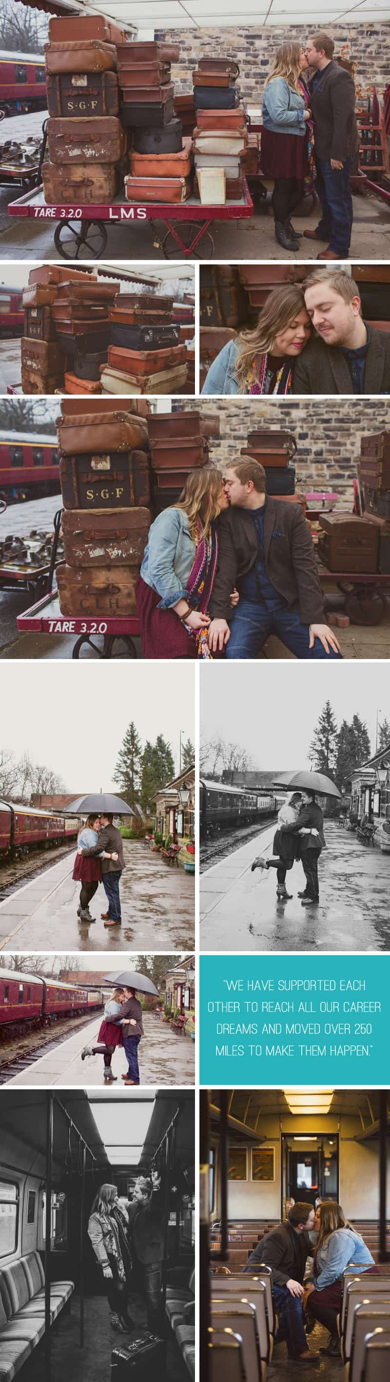 Vintage Train Engagement 1