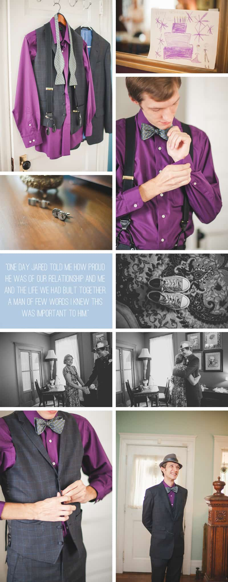 a purple wedding dress for a backyard wedding bespoke bride