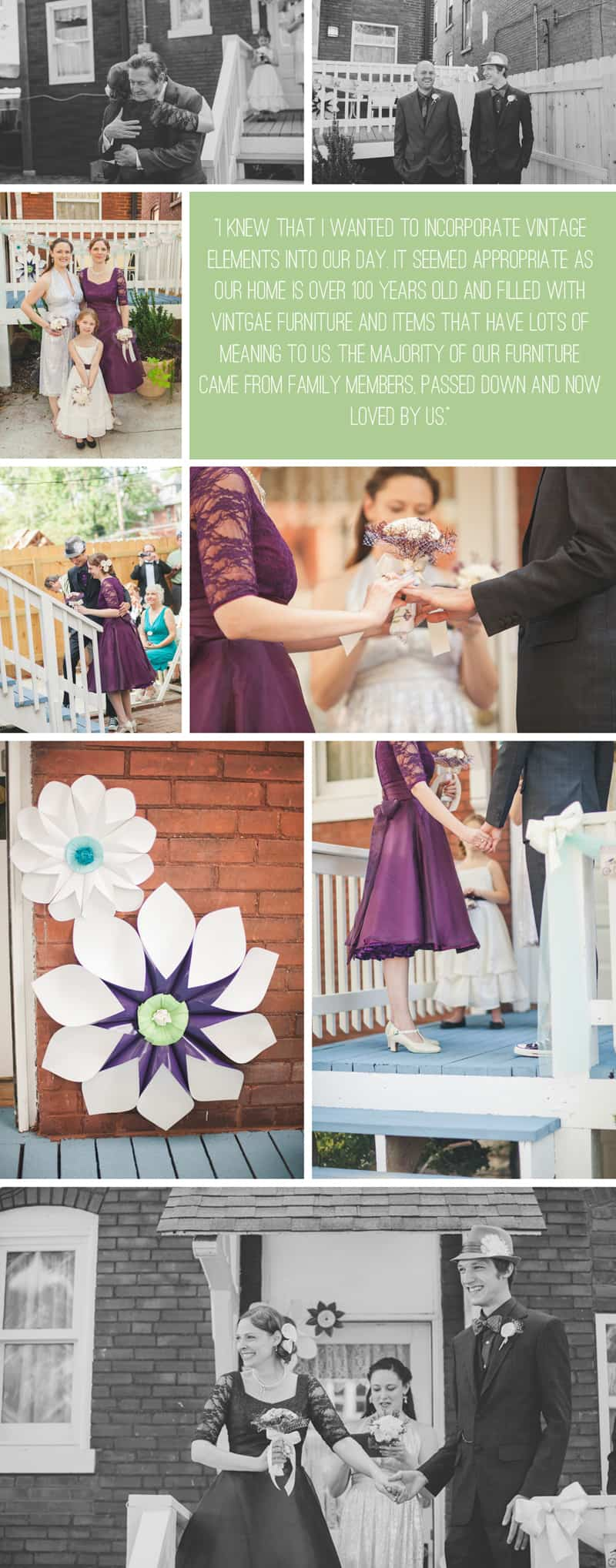 A Purple Wedding Dress For a Backyard Wedding 5