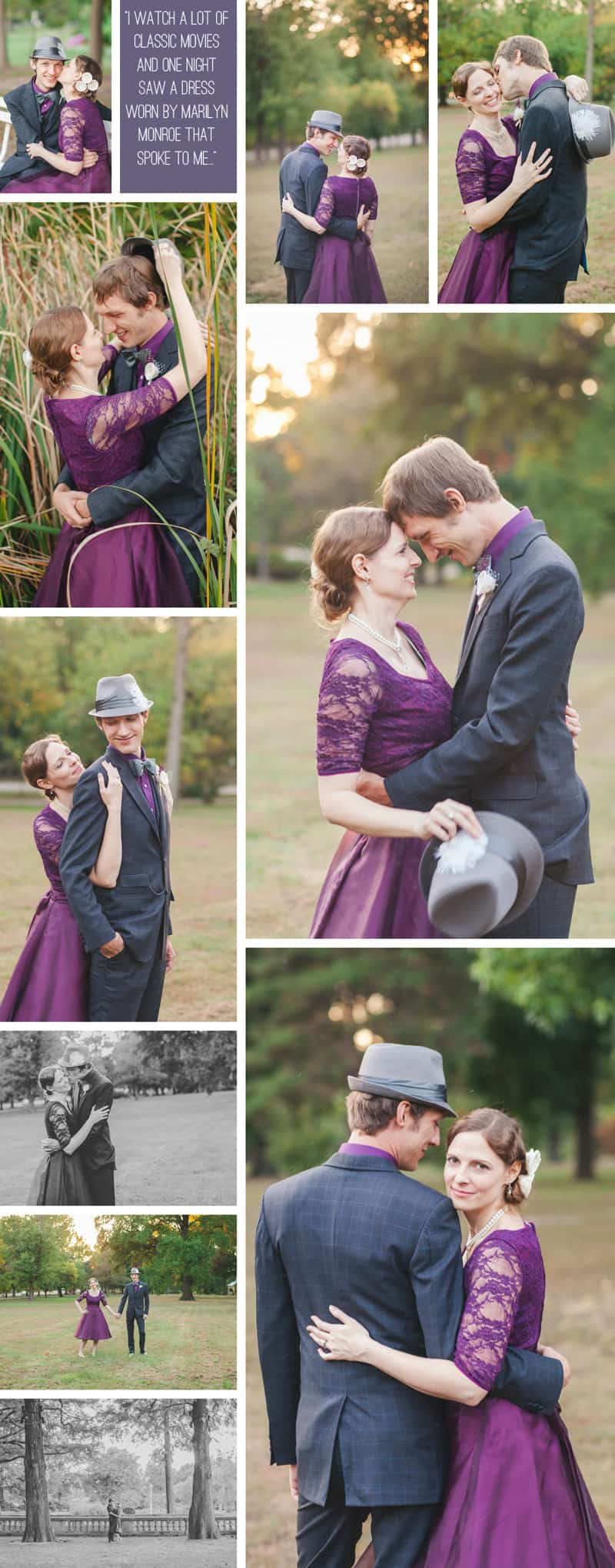 A Purple Wedding Dress For a Backyard Wedding 6