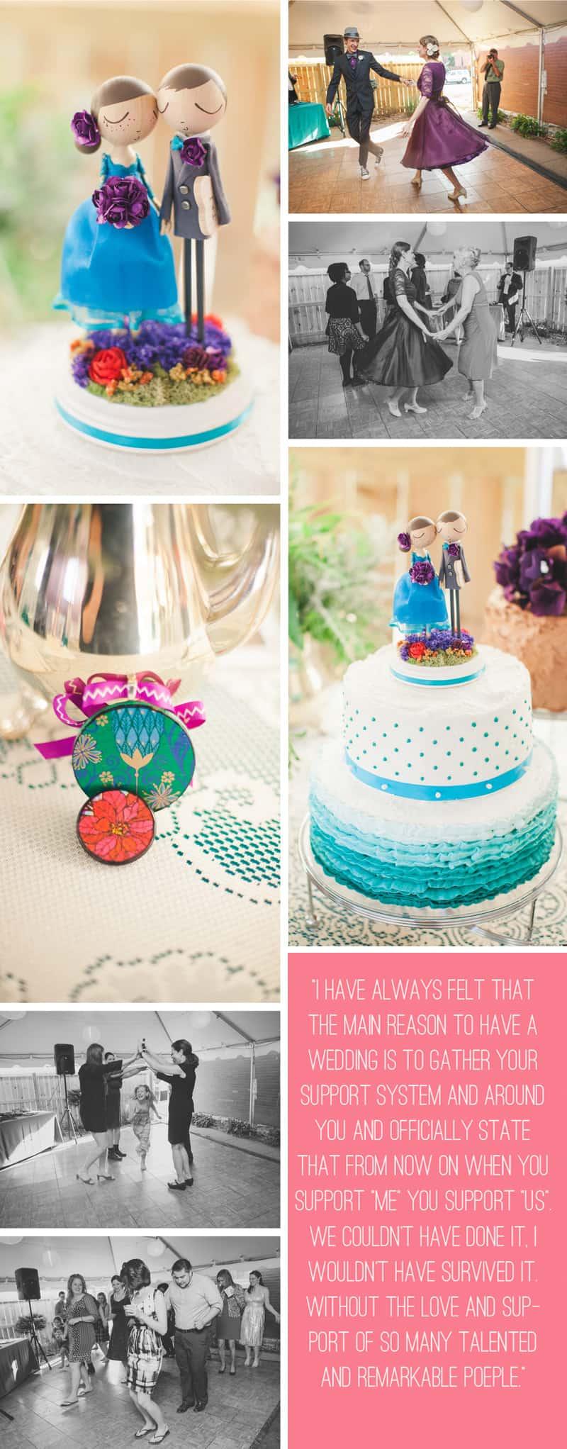 A Purple Wedding Dress For a Backyard Wedding 8