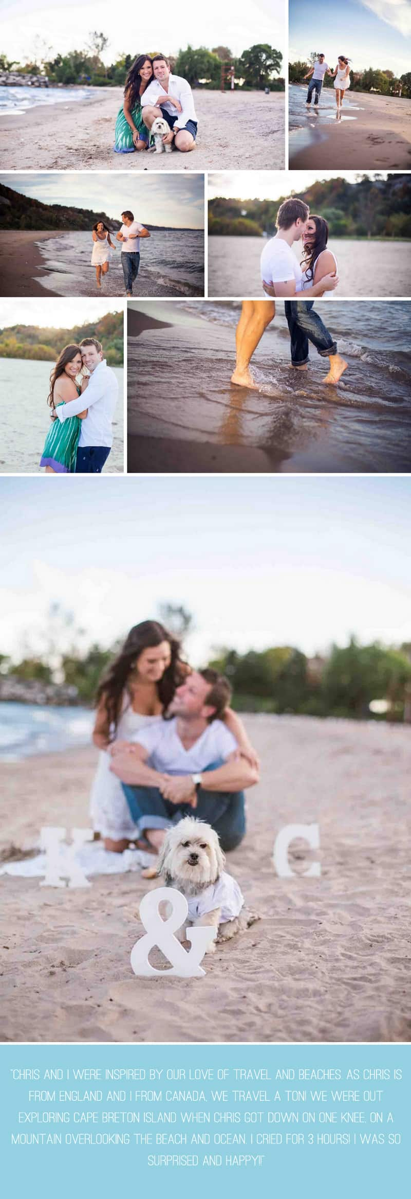 A Sweet Beach Engagement with a dog