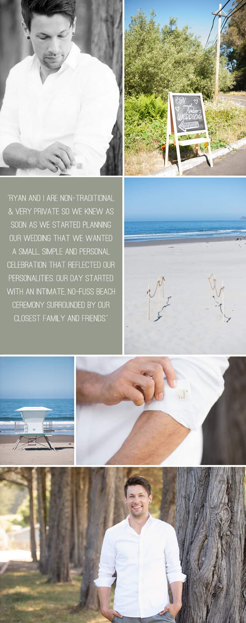 An Intimate Rustic Beach Wedding 1