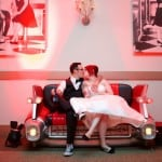 A 1950'S Rockabilly Wedding With The Coolest Car Couch Ever!: Cara & Mike