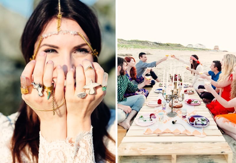Beach Wedding Oysters