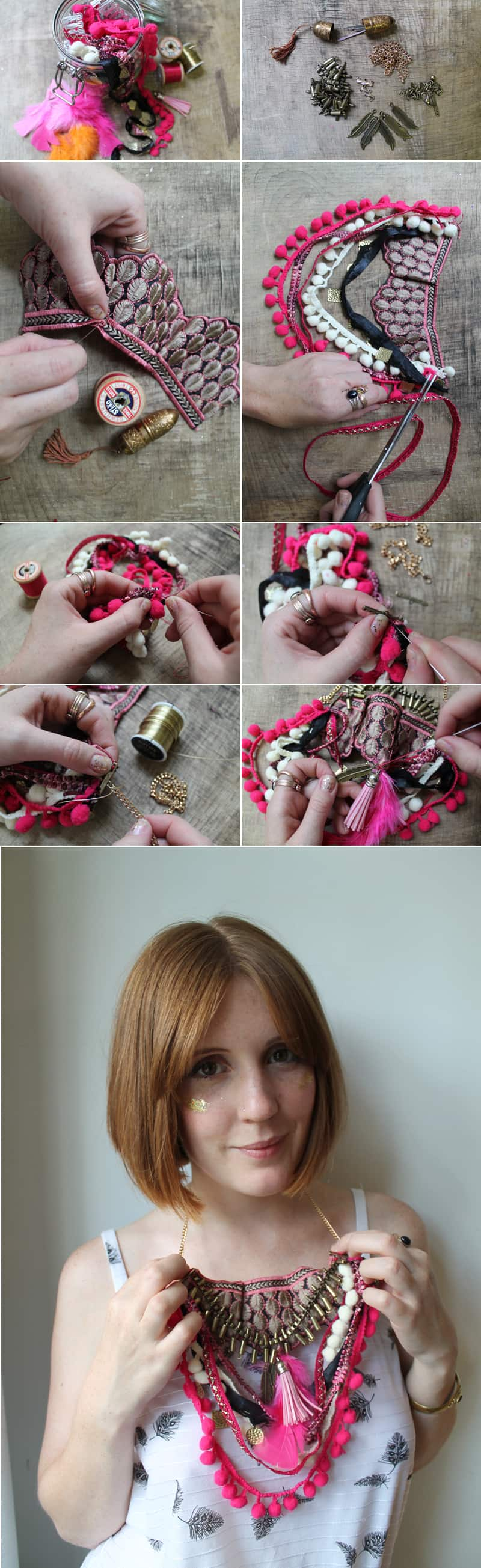 Festival Inspired Necklace DIY Tutorial