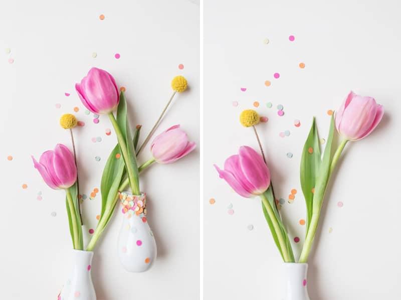 DIY Confetti Vases