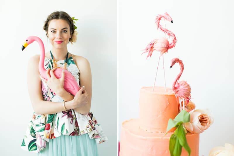 Pink Flamingo Collaboration with BHLDN