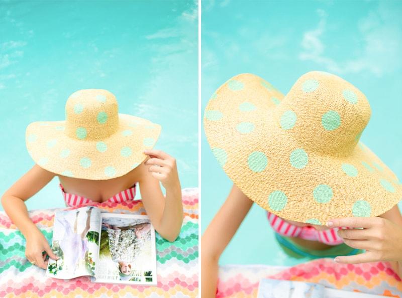 Polka Dot Hat DIY