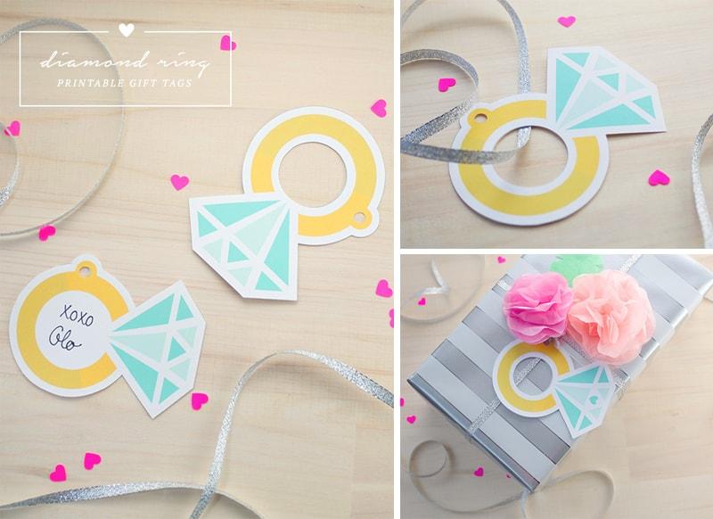 Printable Diamond Rings