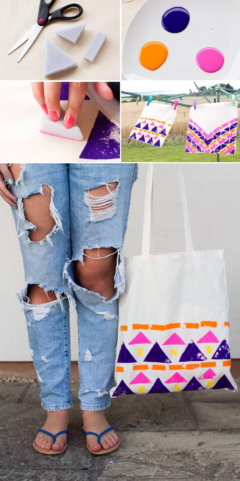 Tote Bag Shapes Aztec Tote Bag Collage Final