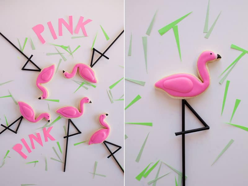 How to Make Flamingo Cookies from Tell Love & Chocolate
