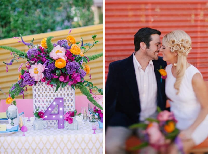 Palm Spring Colorful Styled Shoot
