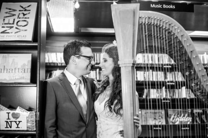 A Quirky NYC Bookshop wedding