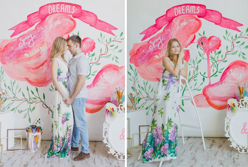 Bright Water Colour Wedding Inspiration