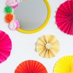 DIY Mexican Fiesta Mirror with Paper Flowers!