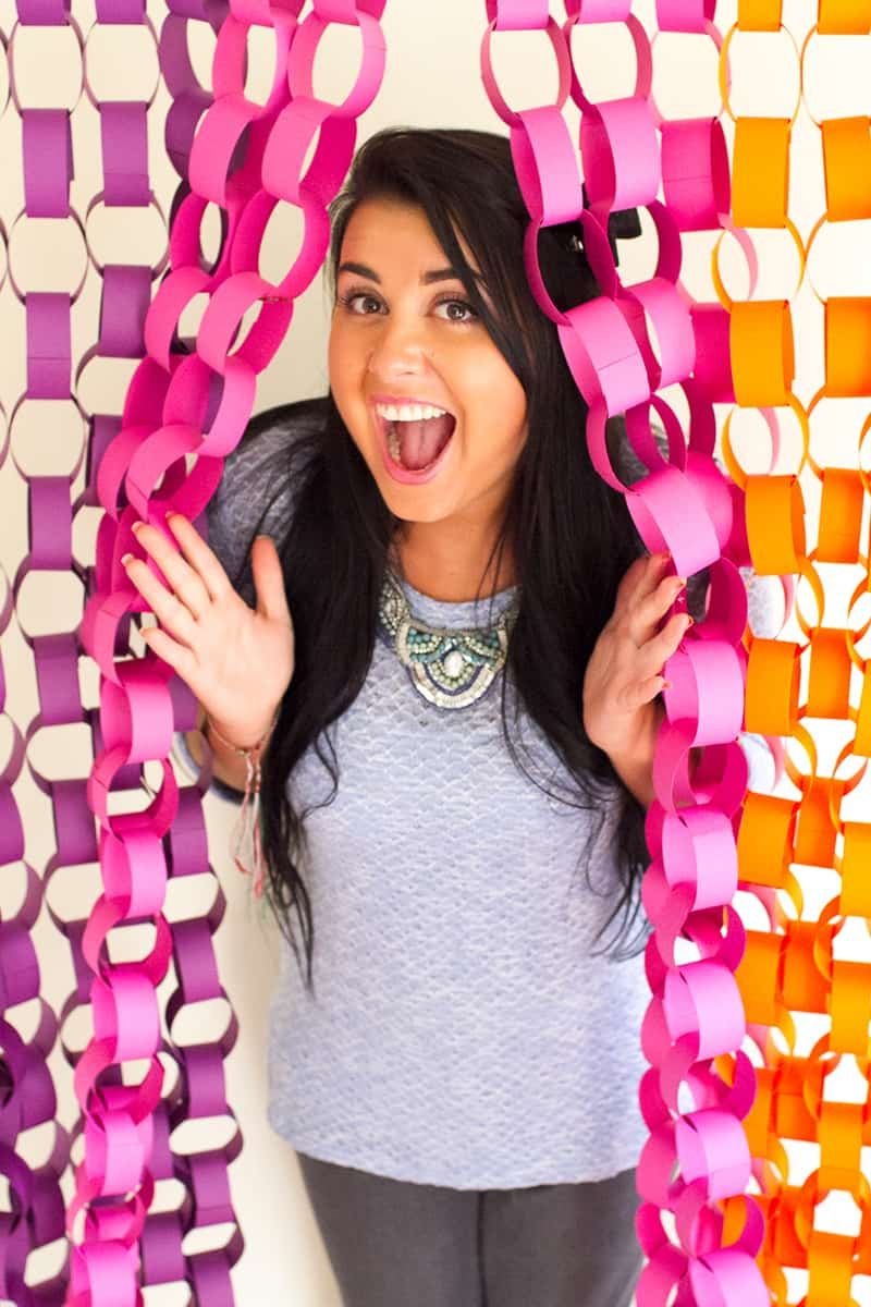 Diy Paper Chain Photo Booth Backdrop Tutorial Backdrop Inspiration