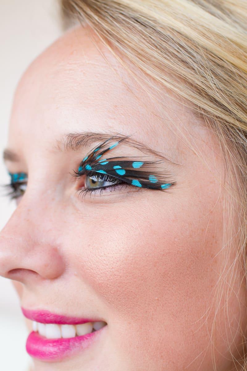 Diy Feather Eyelashes Bespoke Bride Wedding Blog