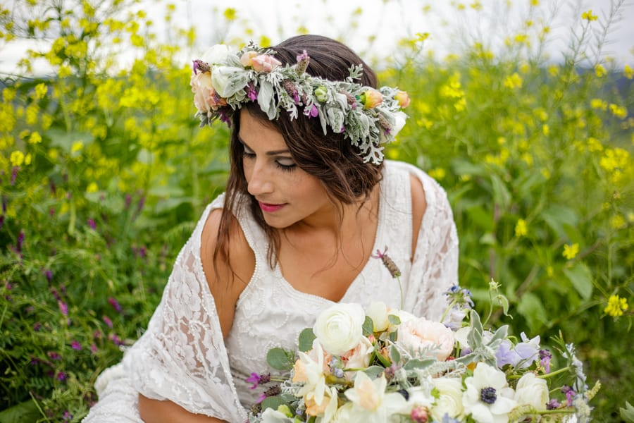 Floral Flower Crown Inspiration Budget Bride Styled Shoot 14