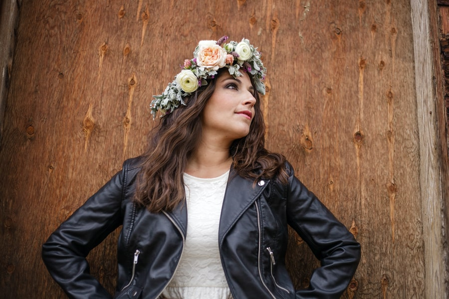 Floral Flower Crown Inspiration Budget Bride Styled Shoot 21
