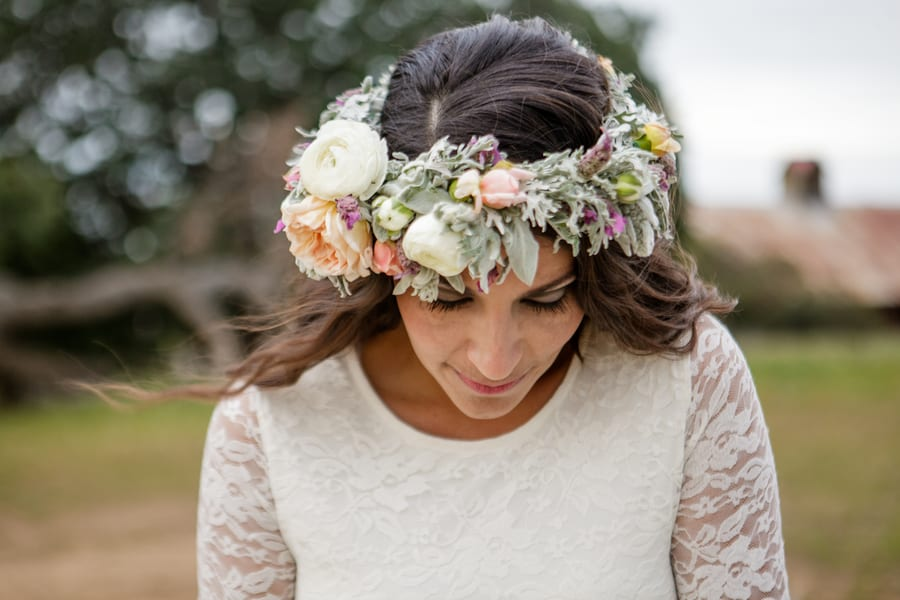 Floral Flower Crown Inspiration Budget Bride Styled Shoot 26