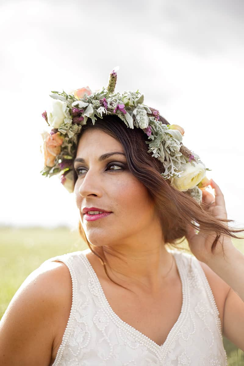 Floral Flower Crown Inspiration Budget Bride Styled Shoot Main
