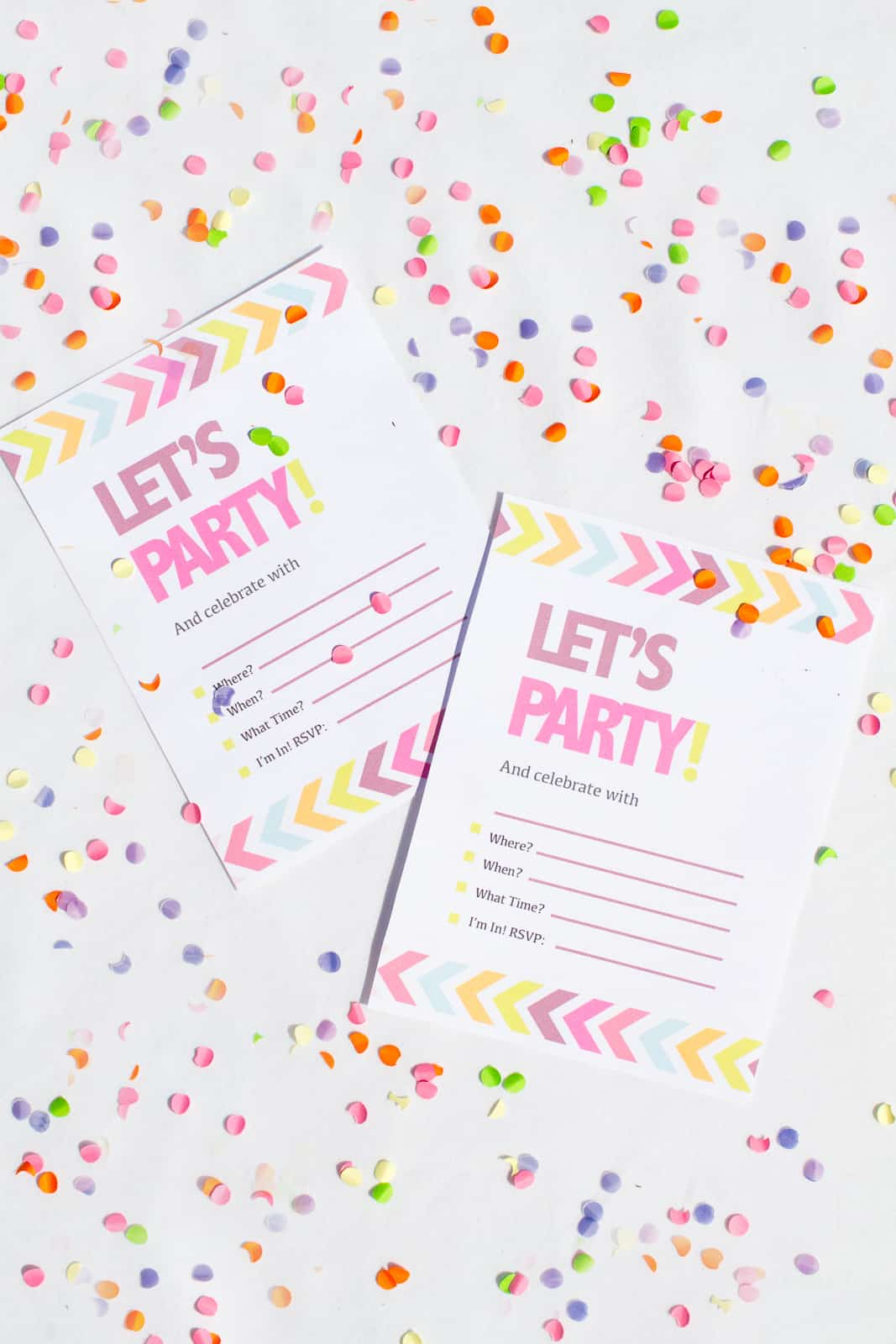 Free Printable Neon & Chevron Hen Party Bachelorette Party Invites ...