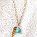 Upcycled Angel Wing Charm Necklace