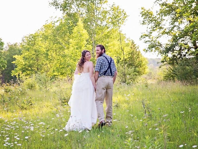 Eclectic Woodsy Wedding