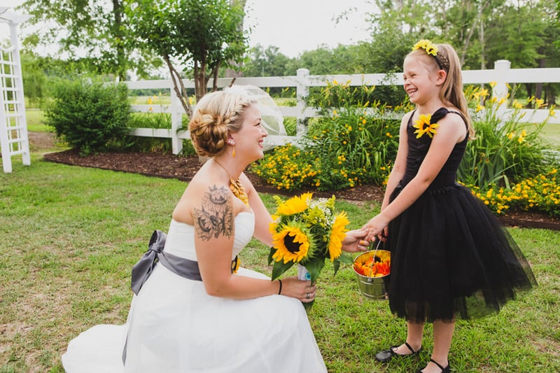 A DIY Rustic Sunflower Wedding (14)