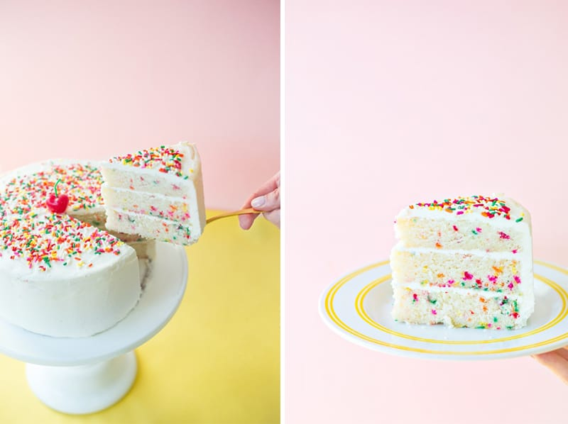 Confetti Funfetti Sprinkle Cake