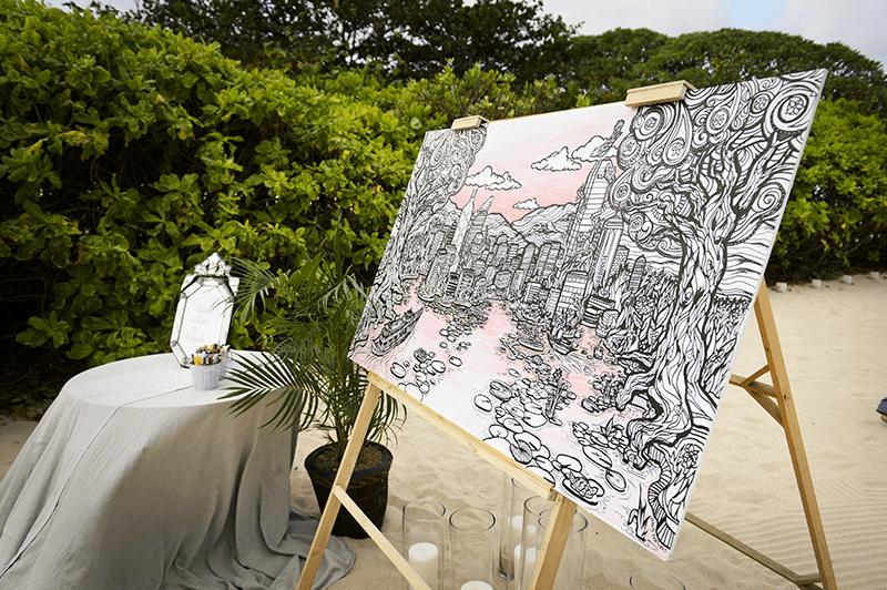 Creative Colouring Wedding Entertainment Artwork Fancy Features 2