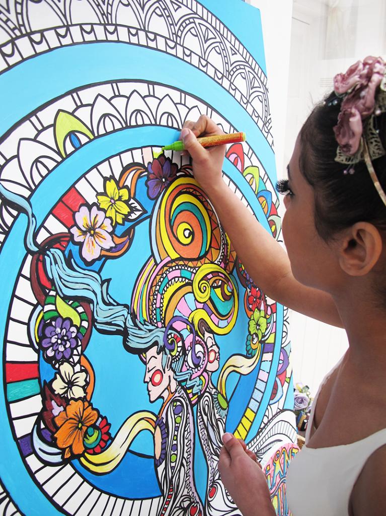 Creative Colouring Wedding Entertainment Artwork Fancy Features