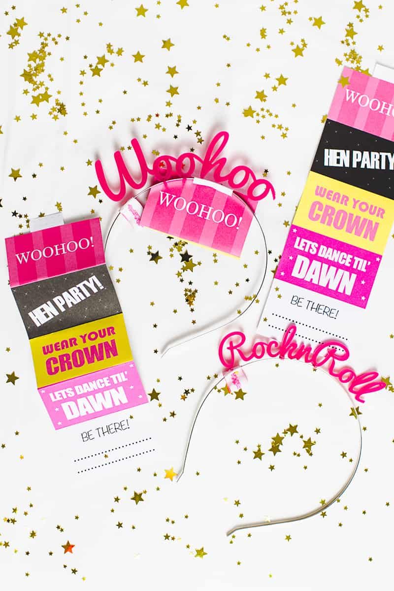 Free Printable Hen Party Invites Invitations Bachelorette Party with ...