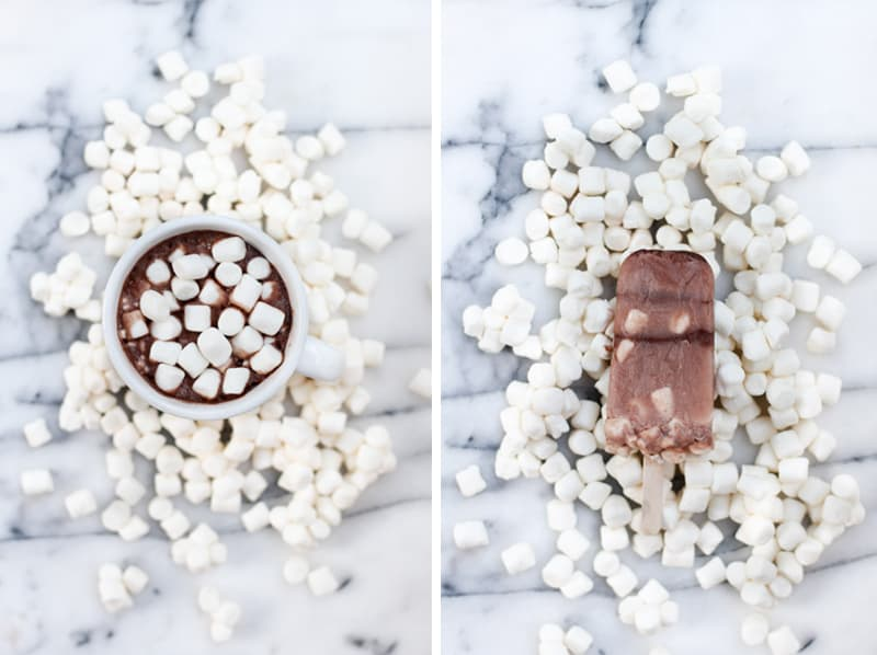 Hot Chocolate Ice Lollies DIY