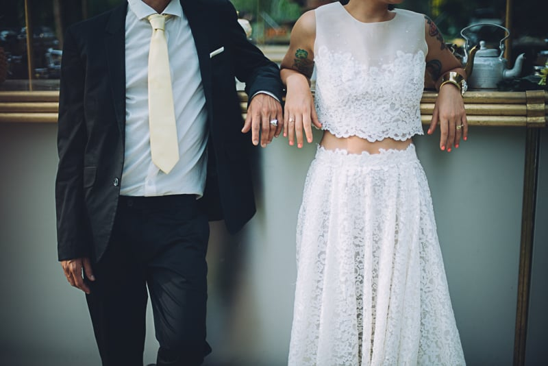 Pineapple Styled Summer Wedding Inspiration Bridal Fashion Unique Wedding Dress-29