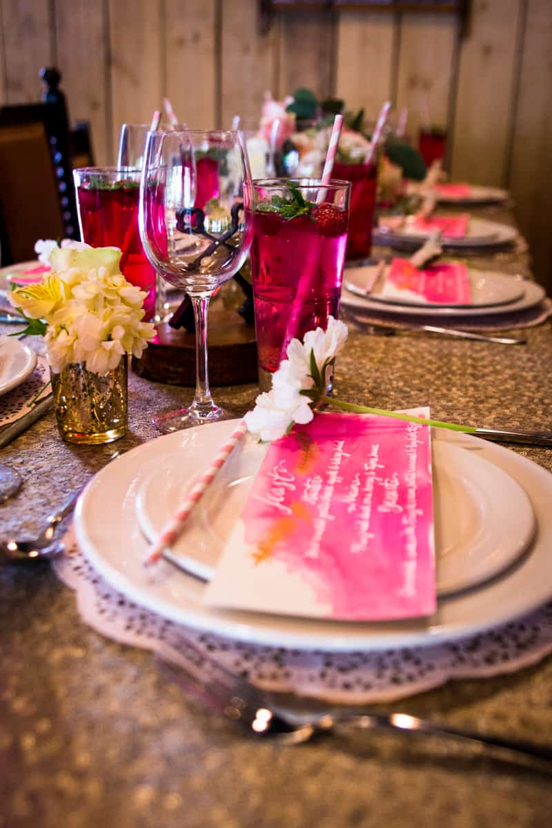 Pink, Glitter & Gold Styled shoot 17