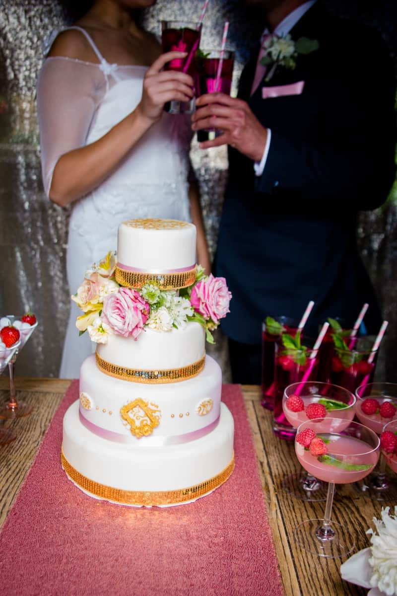 Pink, Glitter & Gold Styled shoot 83