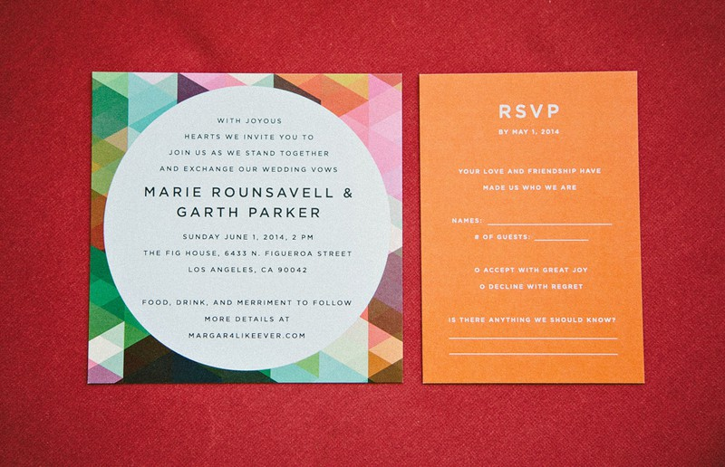 Colourful Geometric Wedding in LA (14)