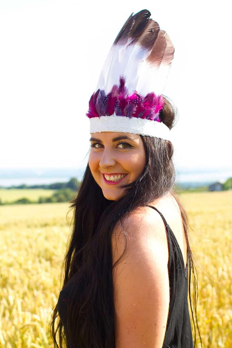 DIY Feather Headdress or Crown