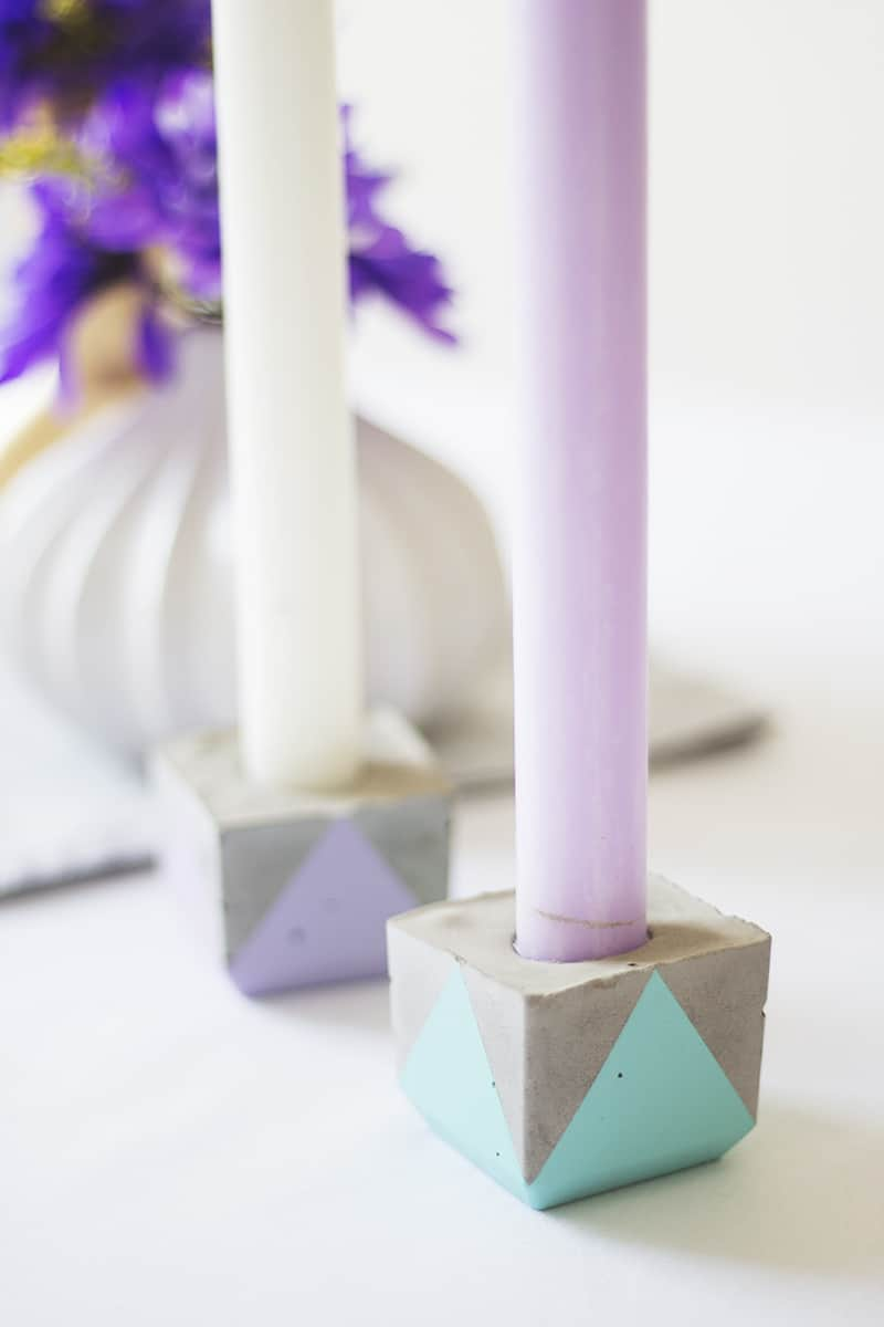 Diy Geometric Concrete Candle Holders Bespoke Bride Wedding Blog